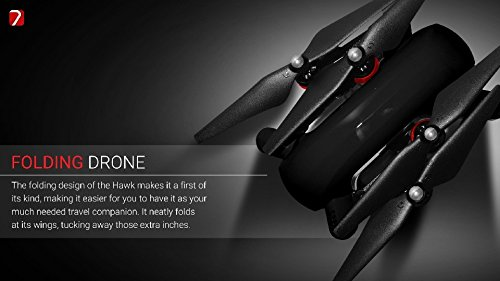 Hawk4K drone includes a live video transmission, Follow Me Mode, and manual guiding functions