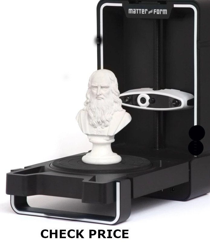 Matter & Form Mfs1V2 3D Scanner V2 +Quickscan, 65 Second Scans, Black