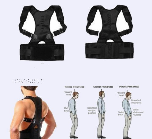 Posture Corrector with Back Brace Adjustable Shoulder Belt for Men Women