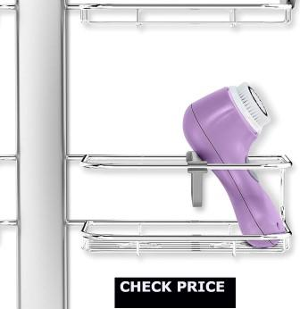 simplehuman Adjustable Shower Caddy XL, Stainless Steel  Anodized Aluminum