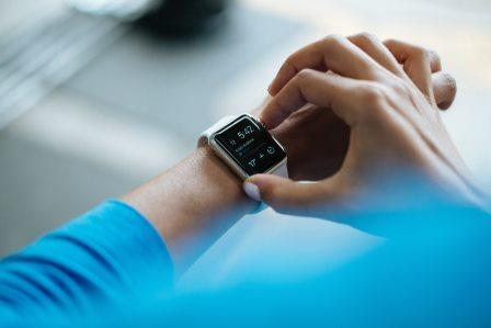 Image of fitness watch by a runner