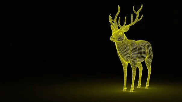 An image of 3D print design of an animal