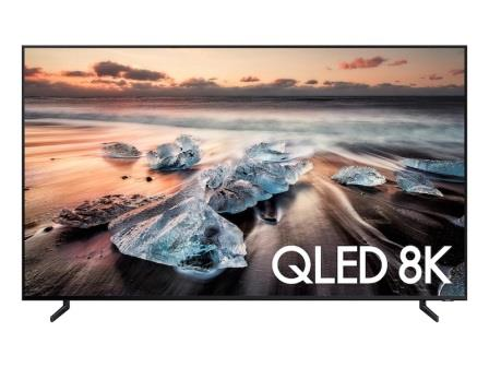 A Samsung Smart 8K QLED TV display