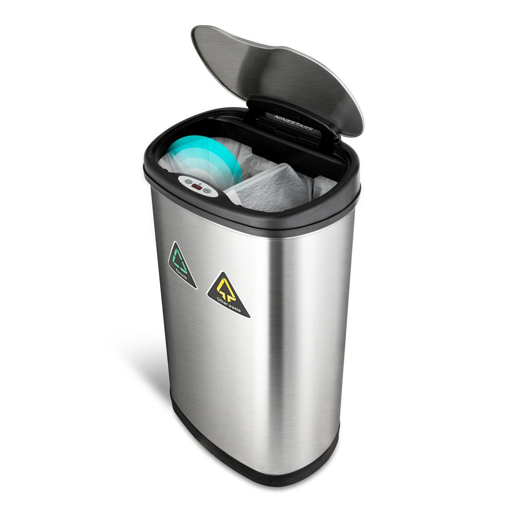 nine stars 21 gallon motion sensor trash can