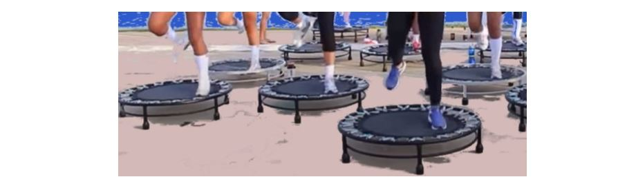 Jumping on Trampoline for fitness