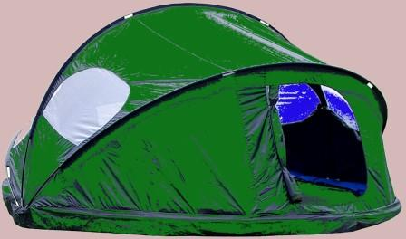 set up a trampoline camping tent