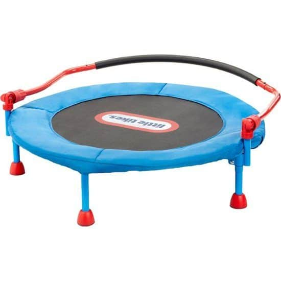 Kids trampoline with handle bar