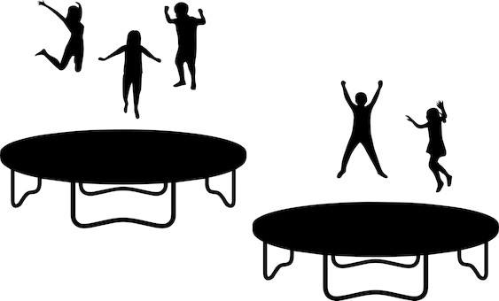 trampoline cartoon picture