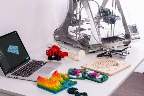 3d printing machine and 3d printed objects