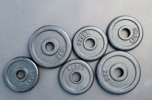 set of Weight plates for physical exercise