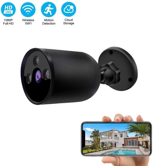 Wireless Camera Outdoor WiFi Security  Night Vision Security Cameras with Two-Way Audio