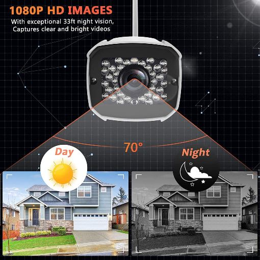 Wireless, Night Vision, Motion Detection, Activity Alert, Deterrent Alarm - iOS, Android