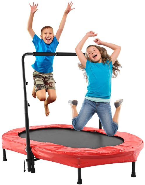 This Binxin Mini Rebounder Trampoline comes in a heavy-duty polypropylene construction