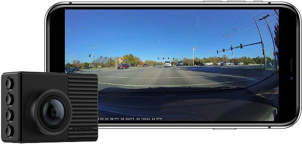 Garmin Dash Cam 66W, Extra-Wide 180-Degree Field of View In 1440P HD