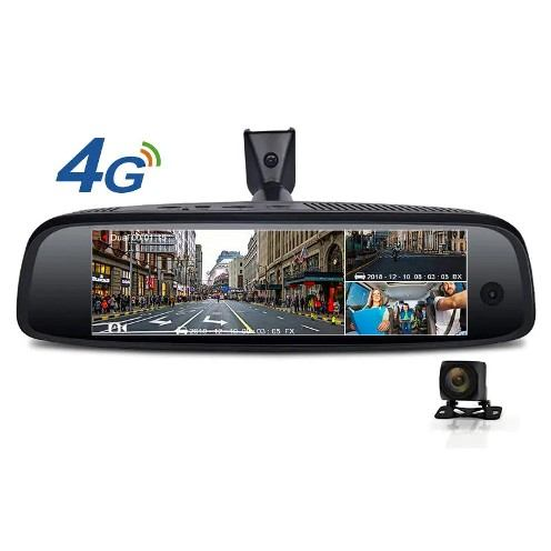 Junsun K757 3 Camera 2G+32GB 4G ADAS FHD 1080P GPS Navi Android Rearview Mirror Recorder Car DVR Camera