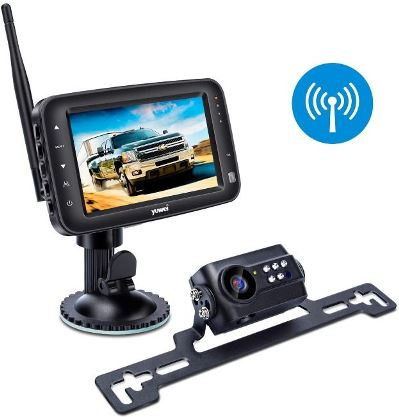 Yuwei Wireless Backup Camera System, IP69k Waterproof Wireless License Plate Rear View Camera