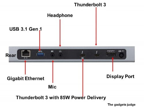 Thunderbolt 3 Multiport Dock with Power Charging