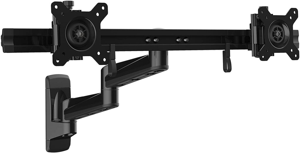 Articulating Ergonomic VESA Wall Mount Dual Monitor Arm
