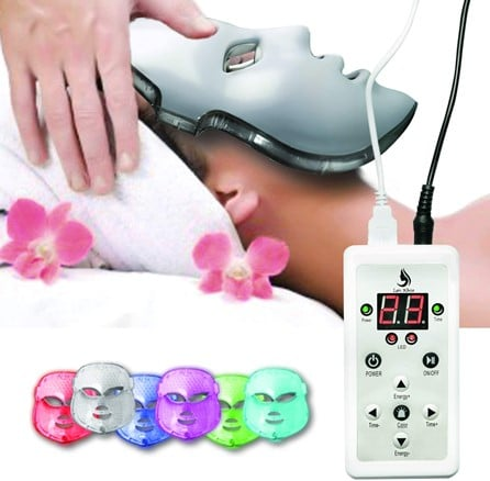 Lexi White Beauty Red Light Therapy LED Face Mask 7 Color Therapy Facial Photon Skin Care Mask
