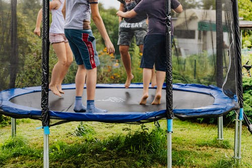 trampoline for outdoor with safety net