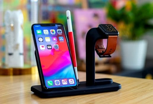 A wireless charging dock for phone and smart watch
