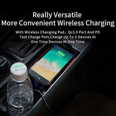 Kucok Car Wireless Charger Mount fit made of high-quality Chrome plus the ABS Material.