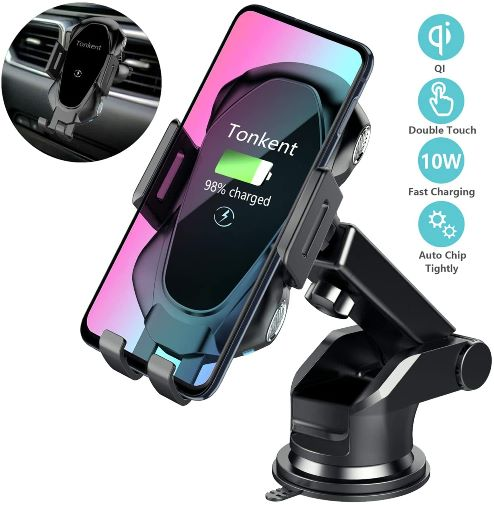 Tonkent Wireless- Car Charger   Compatible with all Qi-Enabled Phones.