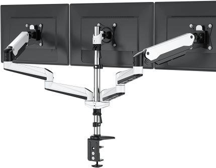 Triple Monitor Stand Full Motion Articulating Aluminum Gas Spring Monitor Mount Fit