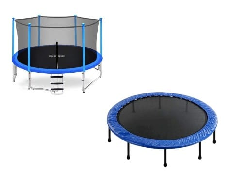 trampoline and a rebounder