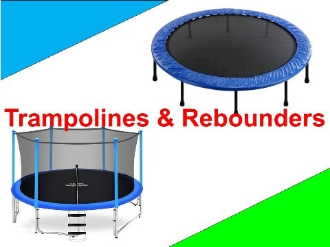 trampolines and rebounders