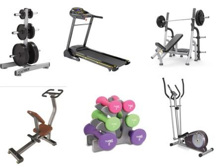home gym equipment commonly used items