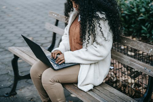 Image of student with a laptop